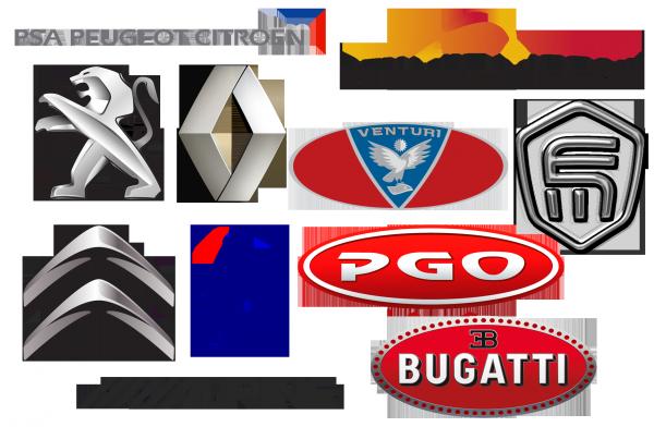 logos des marques autos françaises